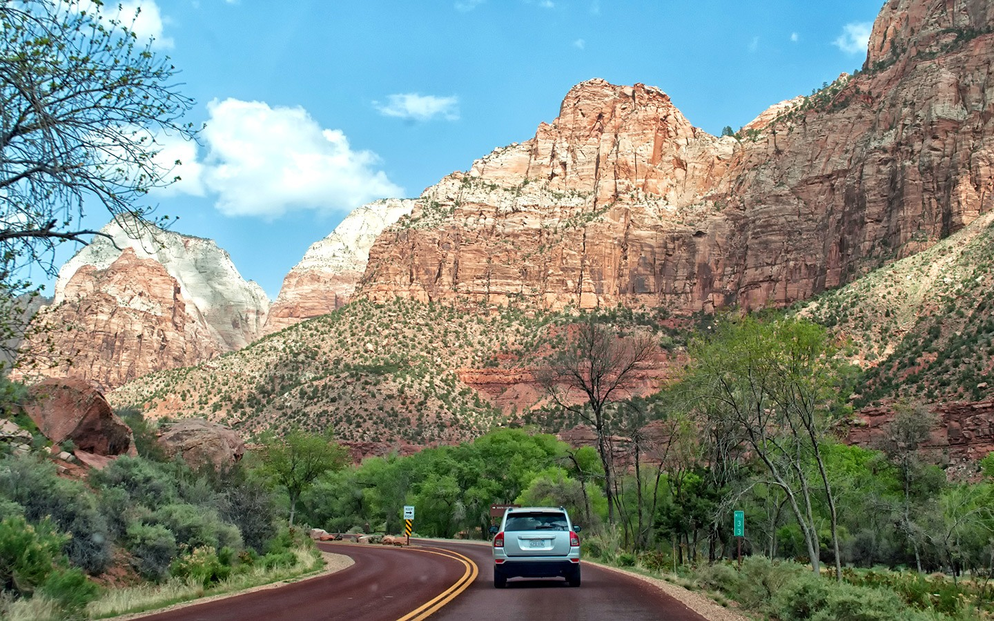 The Zion–Mount Carmel Highway scenic drive in Utah