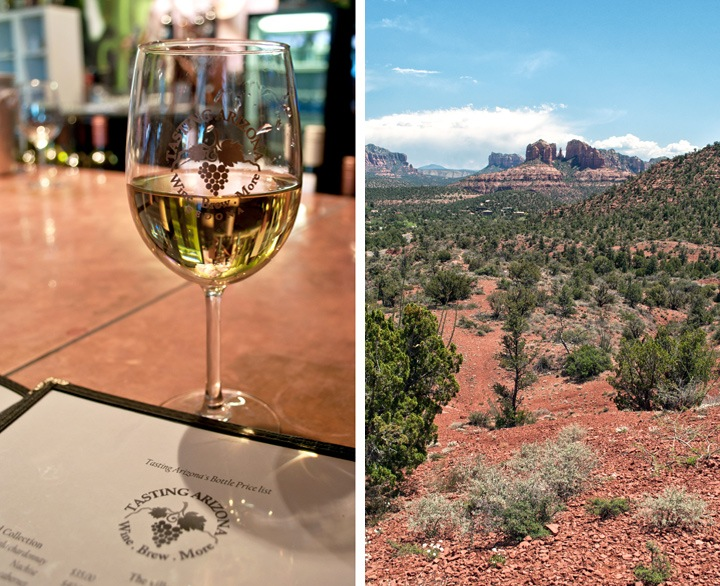 Wine tasting in Sedona, Arizona, USA