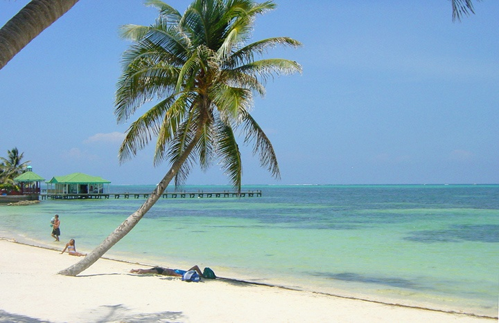 Beach in Belize, central America