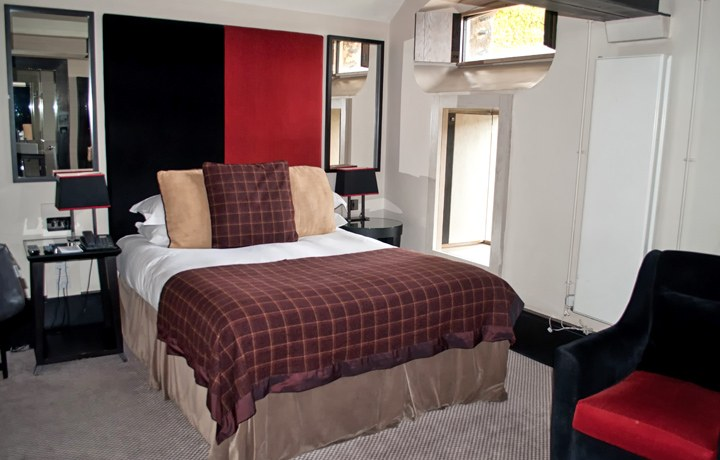 Cell room in the Oxford Malmaison hotel, UK