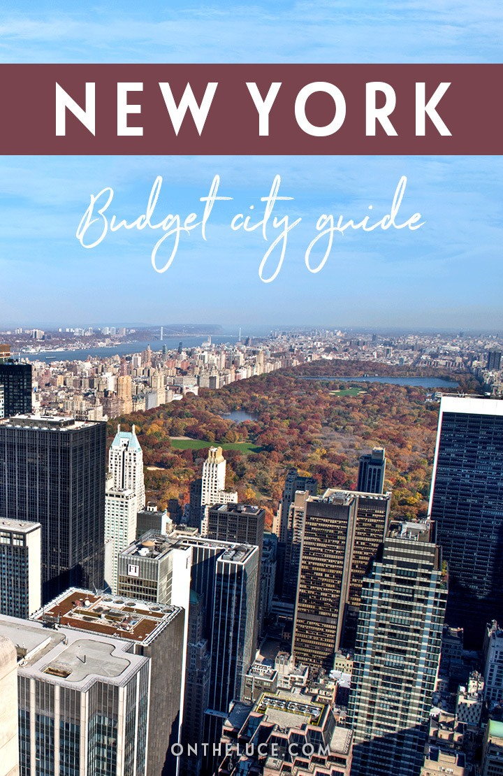 A budget city guide to New York, USA – money-saving tips to cut your costs on sights, museums, food and travel #NewYork #USA #NYC #budgettravel #budgetNewYork
