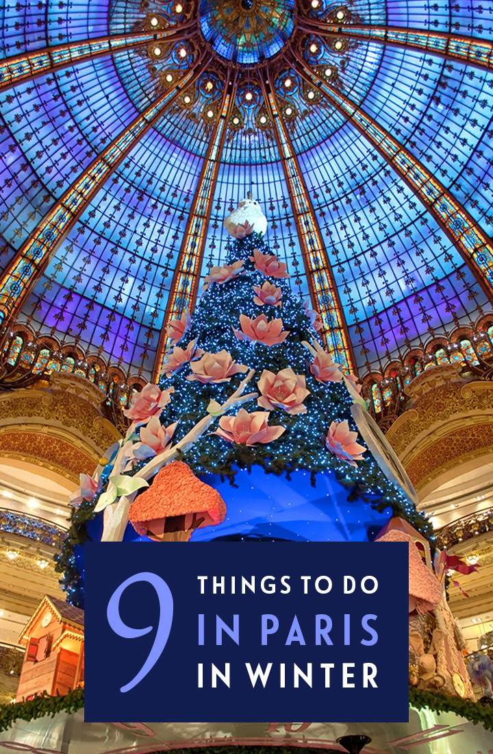 Paris in winter: 9 great things to do in Paris at Christmas, with festive light displays, Christmas markets, ice skating, church concerts and funfair rides. #Paris #France #winter #Christmas #ChristmasinParis
