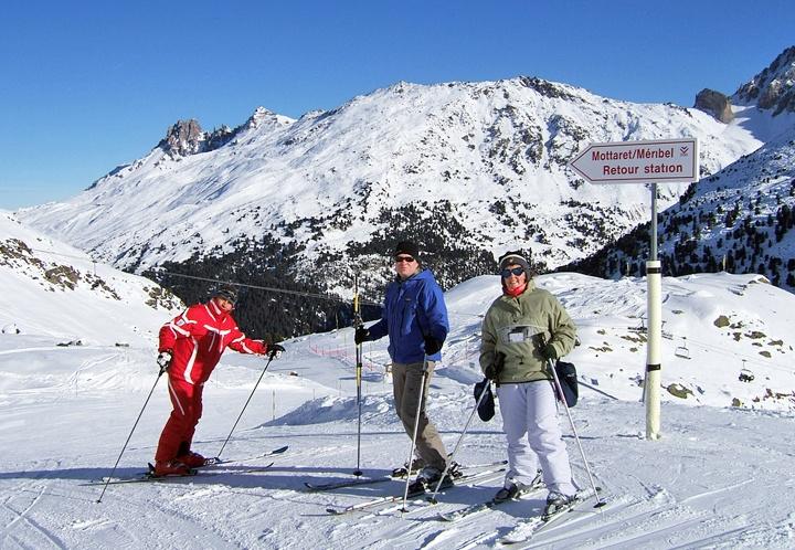 ESF ski class, Meribel-Mottaret, French Alps
