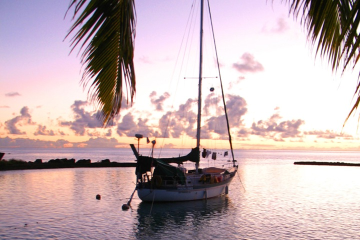 The Amazing Grace boat in Aitutaki