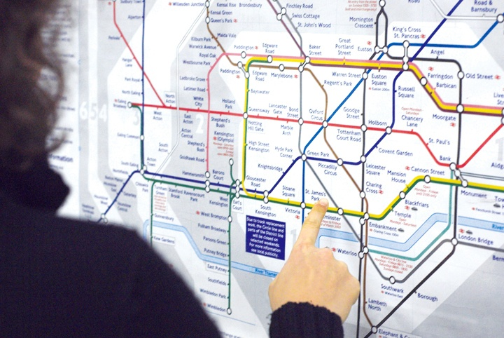 London tube underground map