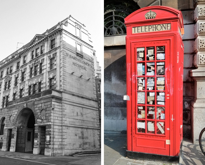 St Bart's Hospital, London Sherlock walk