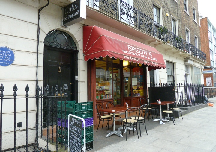 Speedys Cafe and 221B Baker Street, London