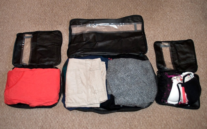 Packing cubes test and review