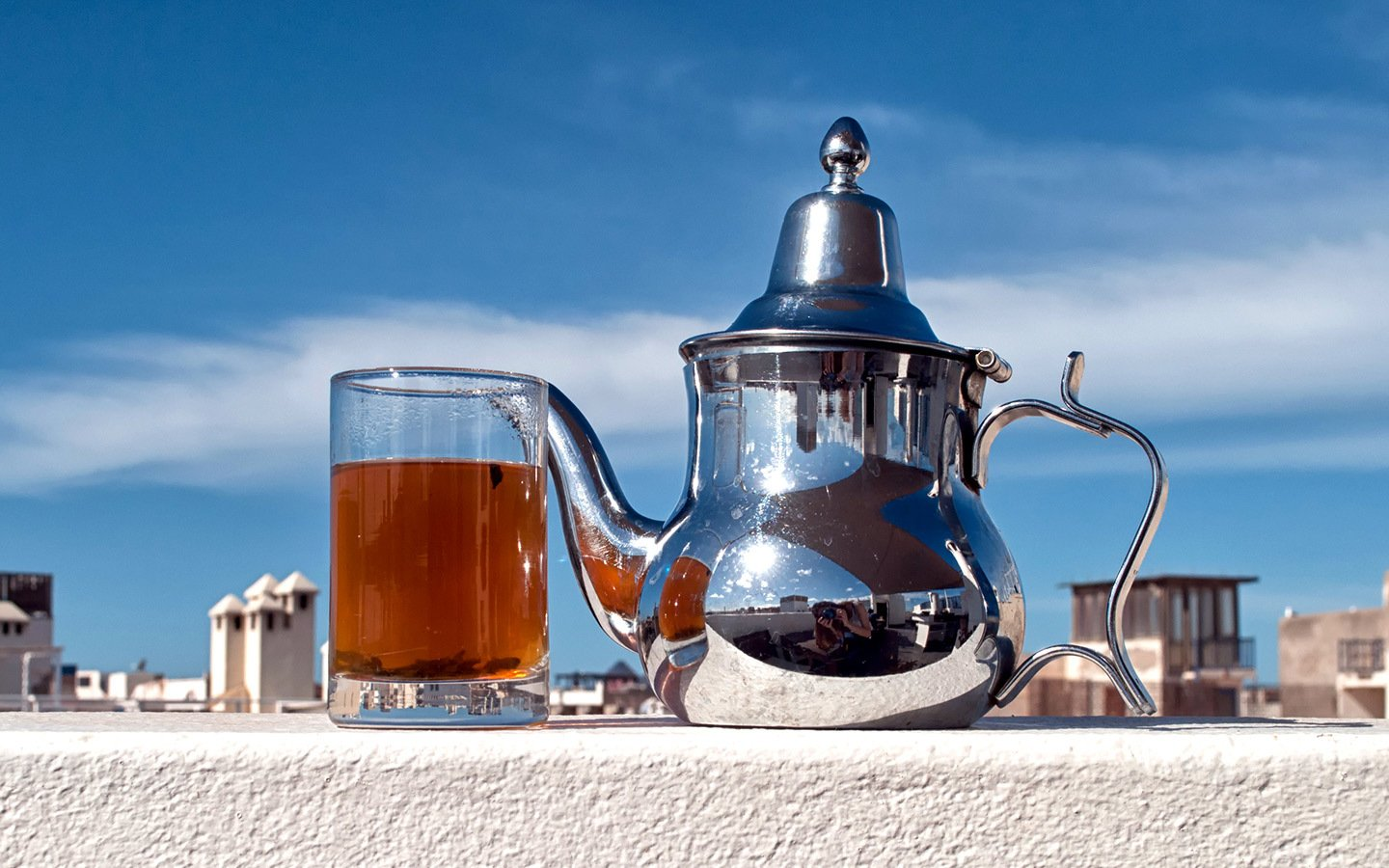Moroccan mint tea in Essaouira