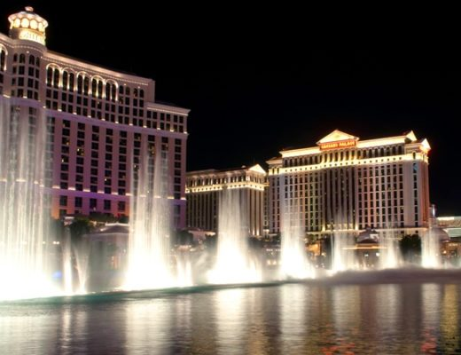 Bellagio fountains, Las Vegas Strip, Nevada USA