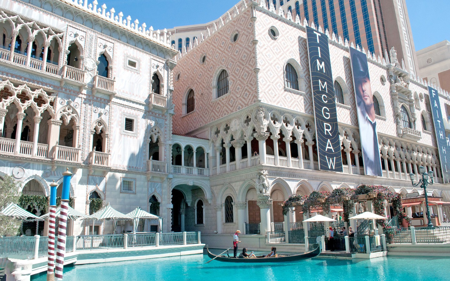 The exterior of the Venetian casino in Las Vegas, Nevada USA