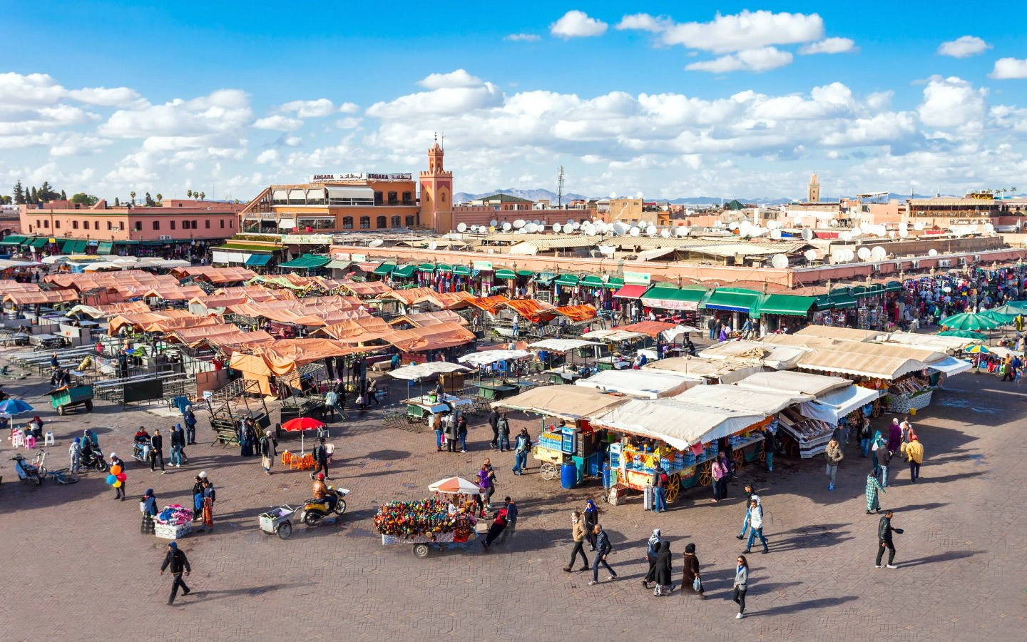 The Djemma El-Fna square in Marrakech medina