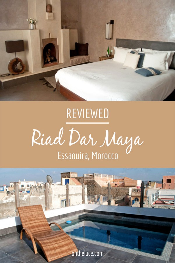 A luxurious escape in the Essaouira medina, Riad Dar Maya combines traditional Moroccan style with contemporary facilities, including pool and hamman – ontheluce.com
