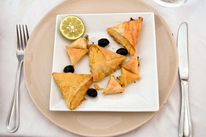 Briouats at L'Atelier Madada Moroccan cookery school, Essaouira, Morocco