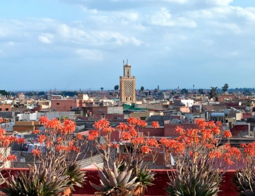 Looking out over Marrakech medina