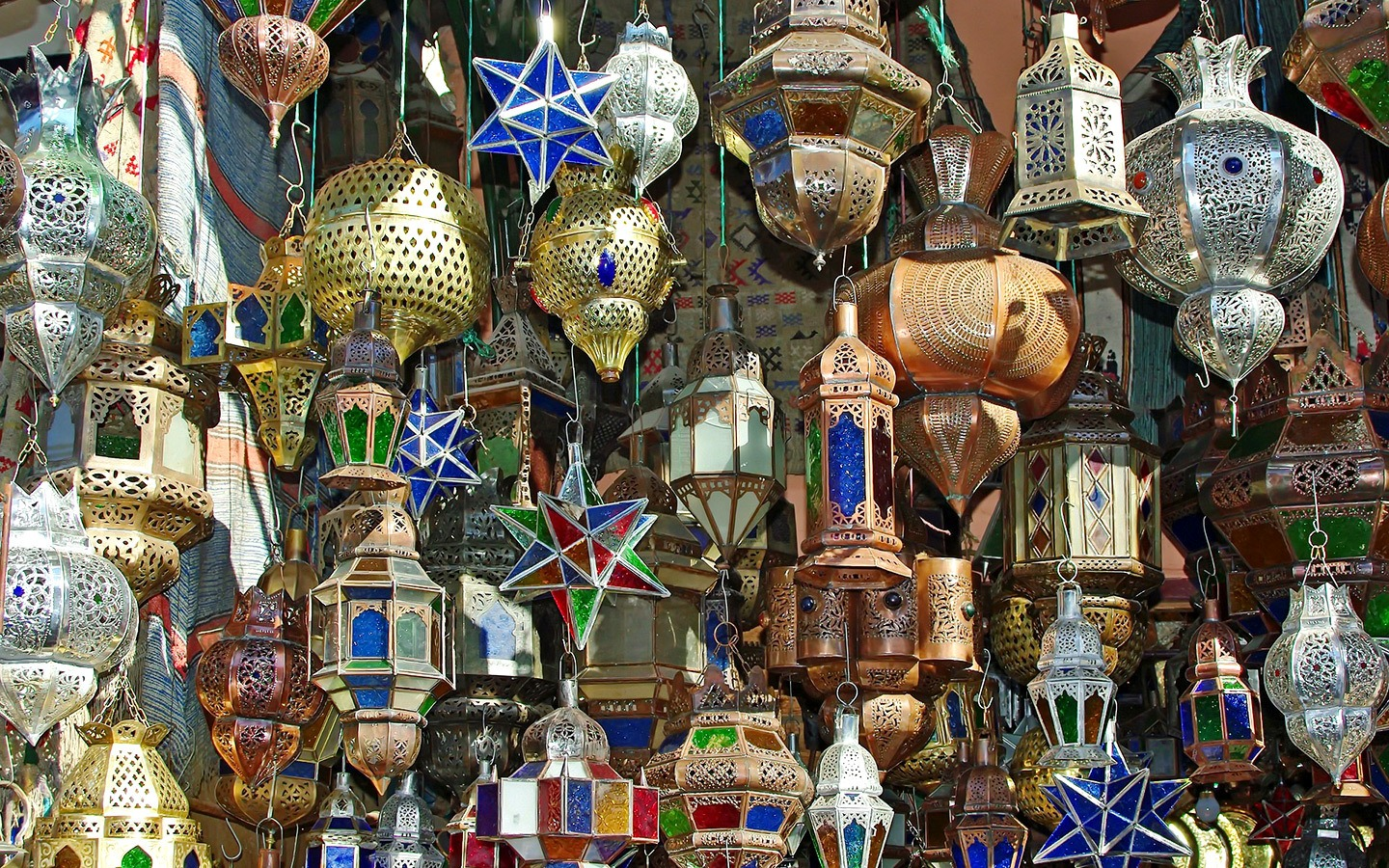Lanterns in the souk, Marrakech