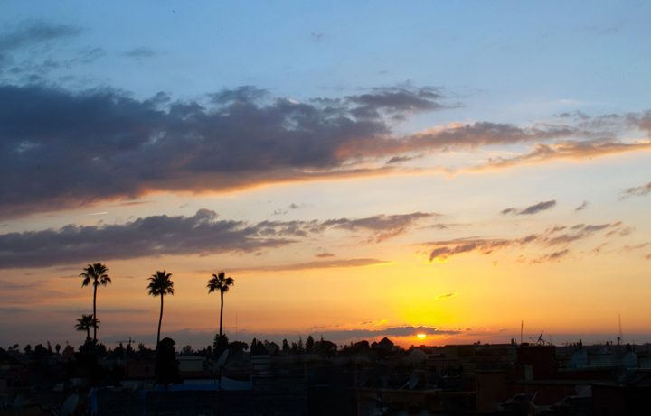 Sunset view from Riad Capaldi , Marrakech