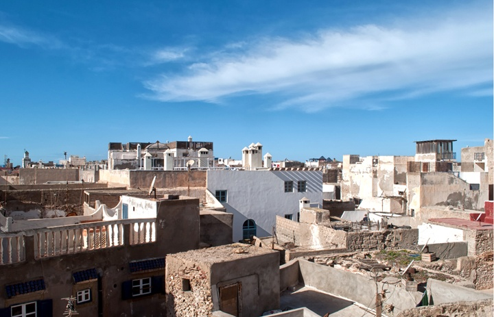 Rooftop views from Riad Dar Maya, Essaouira, Morocco