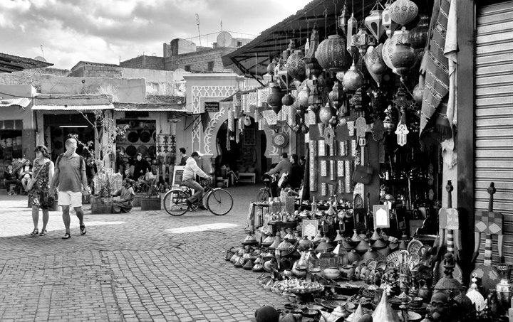 The souks of Marrakech, Morocco