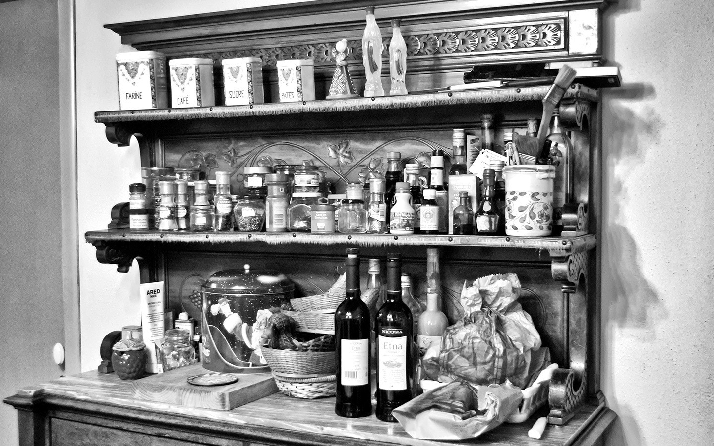 Sicilian cookery ingredients
