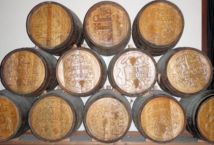 Wine barrels in Sonoma, California
