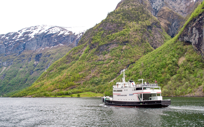 Norwegian fjord boat trip from Flam to Gudvangen