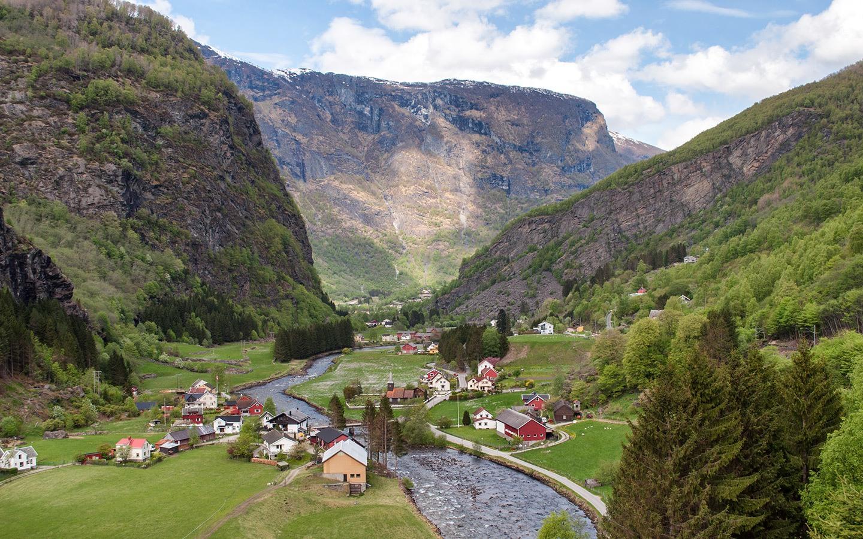 Looking down the Flåm Valley, Norway