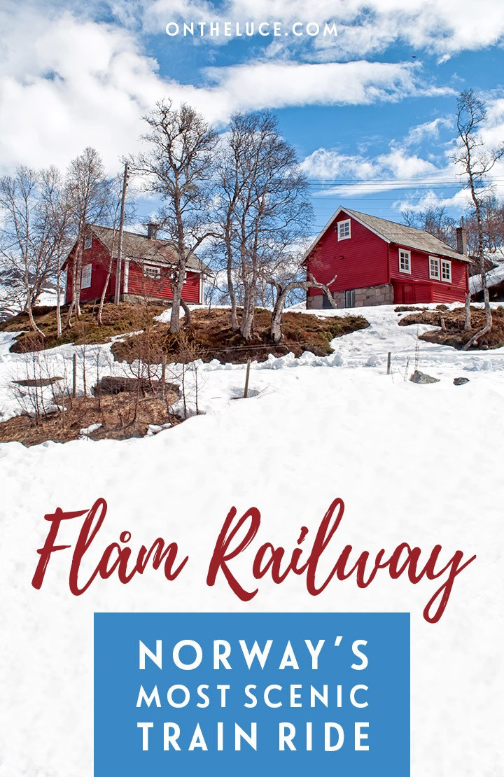 The Flam Railway – or Flåmsbana – is Norway's most scenic train journey, running through the mountains from Myrdal to Flåm in the Norwegian fjords. #Norway #Flam #Flamsbana #train #scenicrailway #Scandinavia