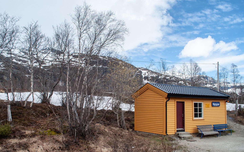 Station along the Flåm Railway in Norway