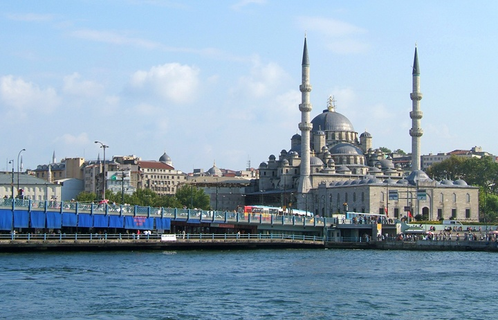 The Galata Bridge and New Mosque, Istanbul