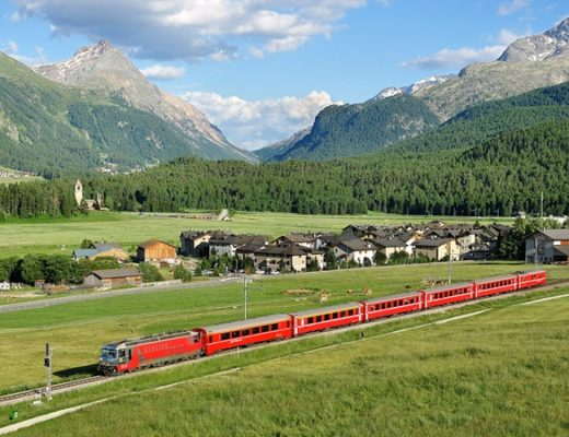 Travel across Europe by train
