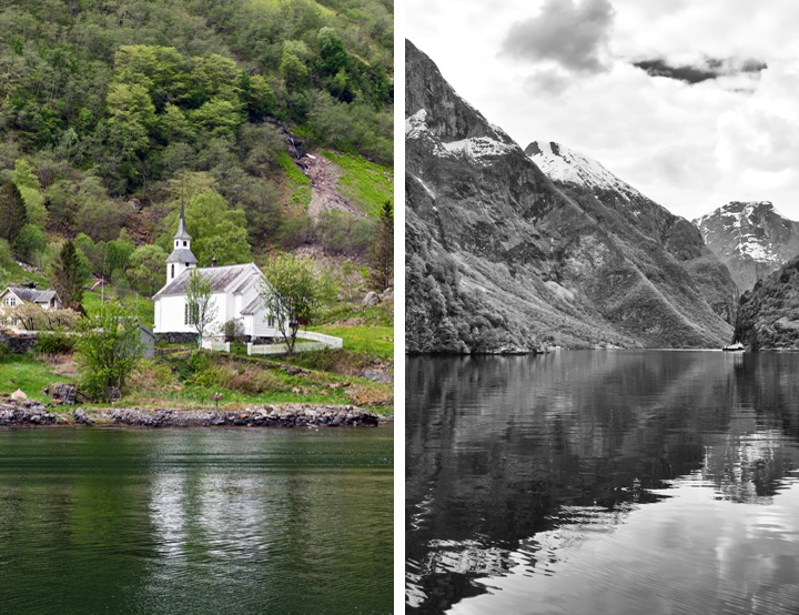 Fjord cruise from Flam to Gudvangen
