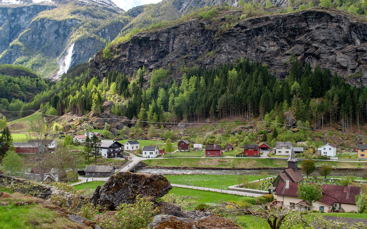 The Flåm Railway in Norway