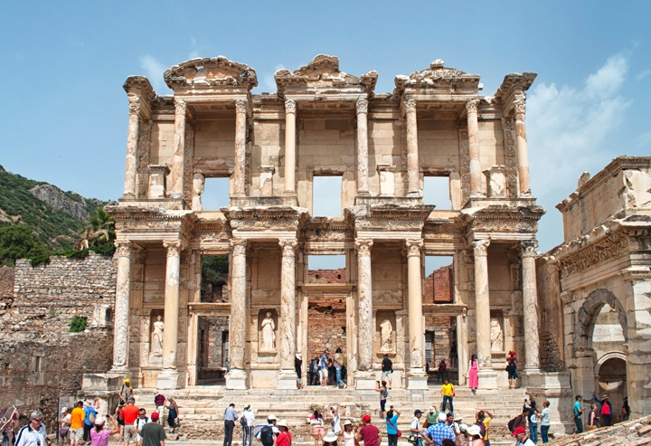The ruins of Ephesus in Turkey