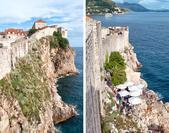 Views from Dubrovnik city walls, Croatia