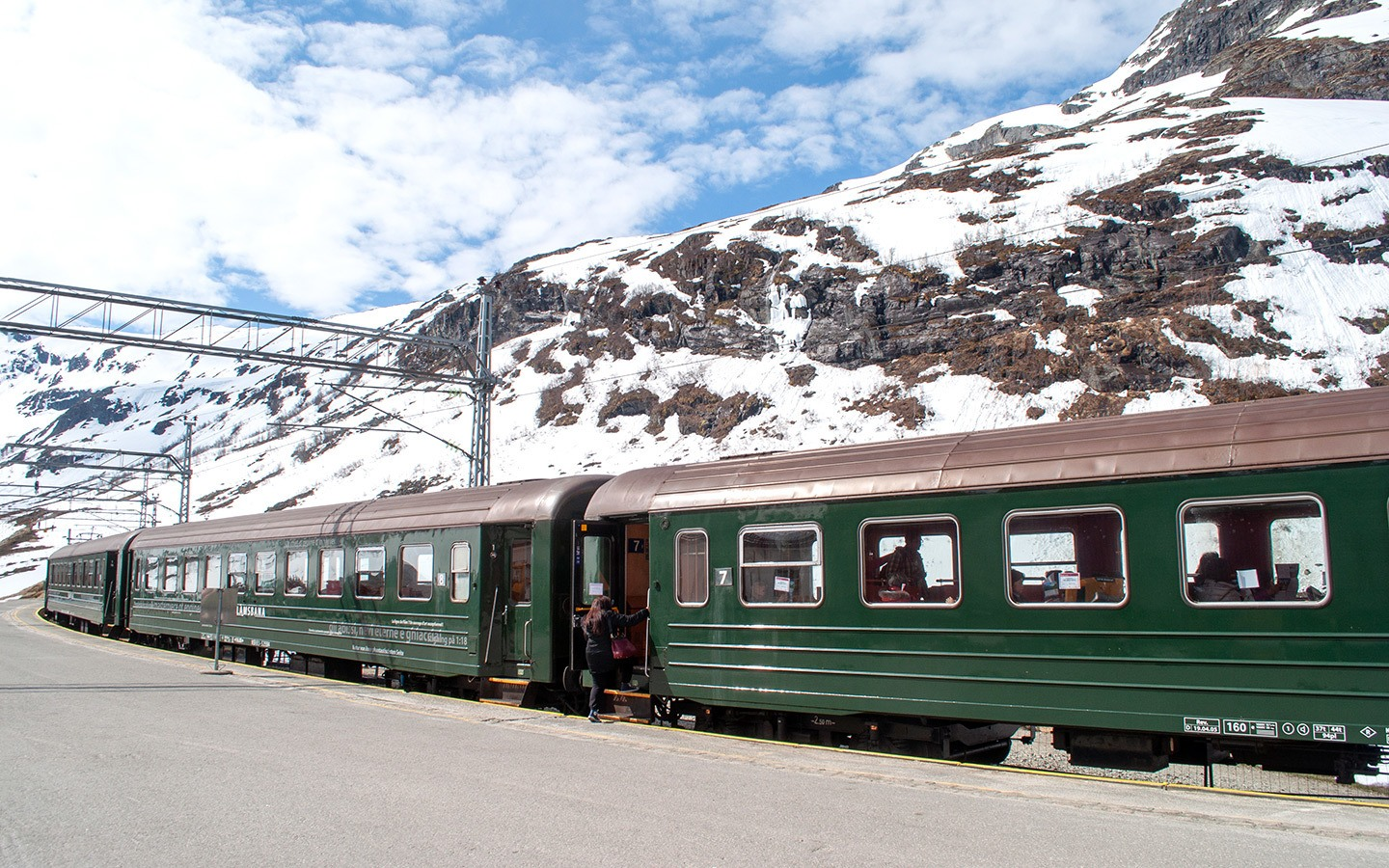 The Flamsbana scenic train in Norway