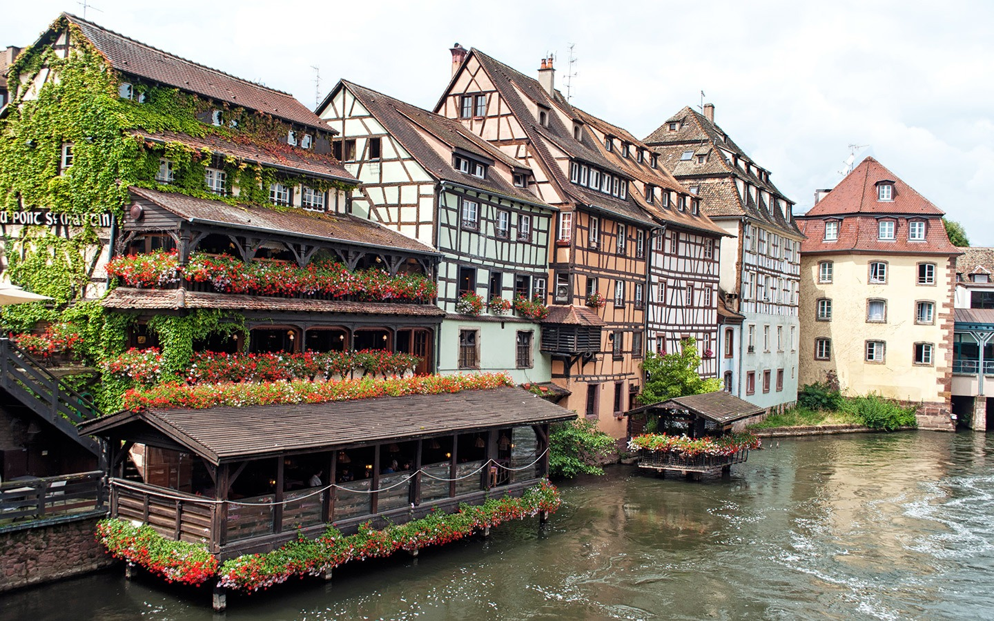 Half-timbered houses in the historic Petite-France district