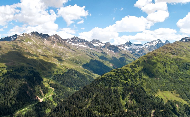 On the mountains in St Anton am Arlberg, Austria