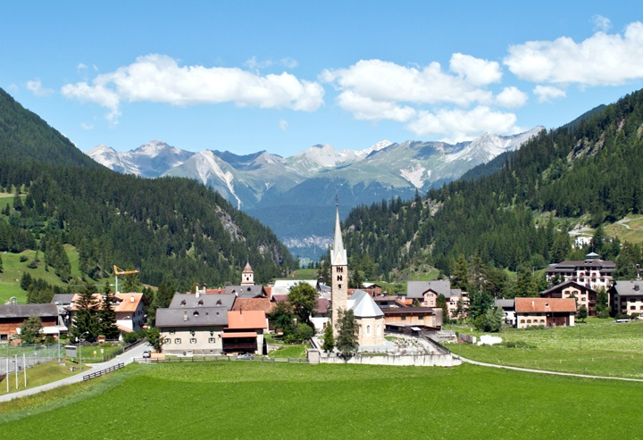 Swiss alpine scenery