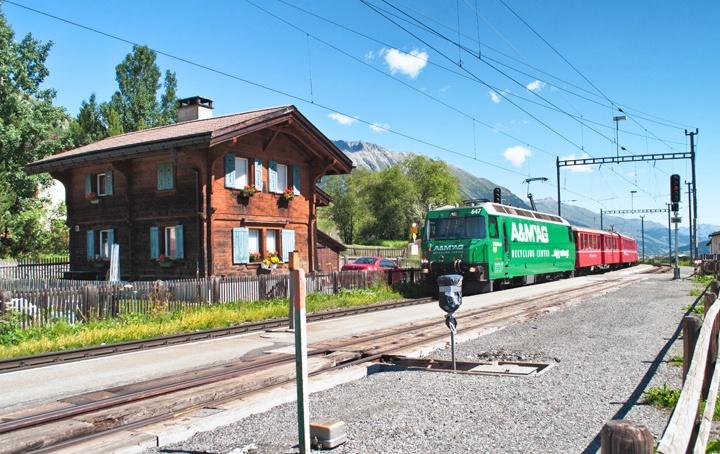 The train station in Celerina, just outside St Moritz