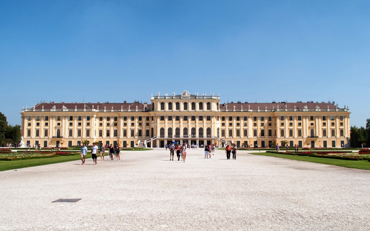 The Schönbrunn Palace in Vienna, Austria