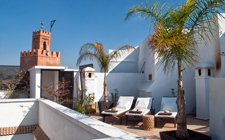 Roof terrace at Riad Capaldi, Marrakech