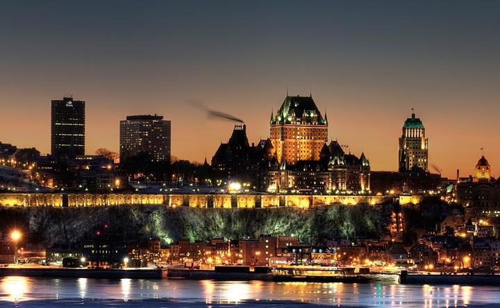 Quebec City at night, Canada