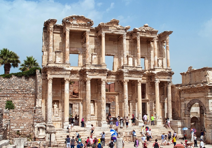 The Celcus Library at Ephesus, Turkey