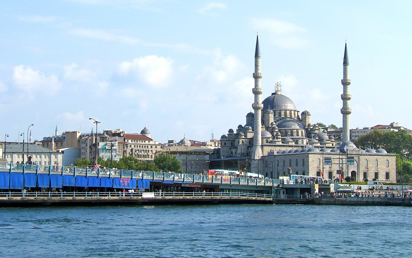 The Galata Bridge across the Golden Horn in Istanbul