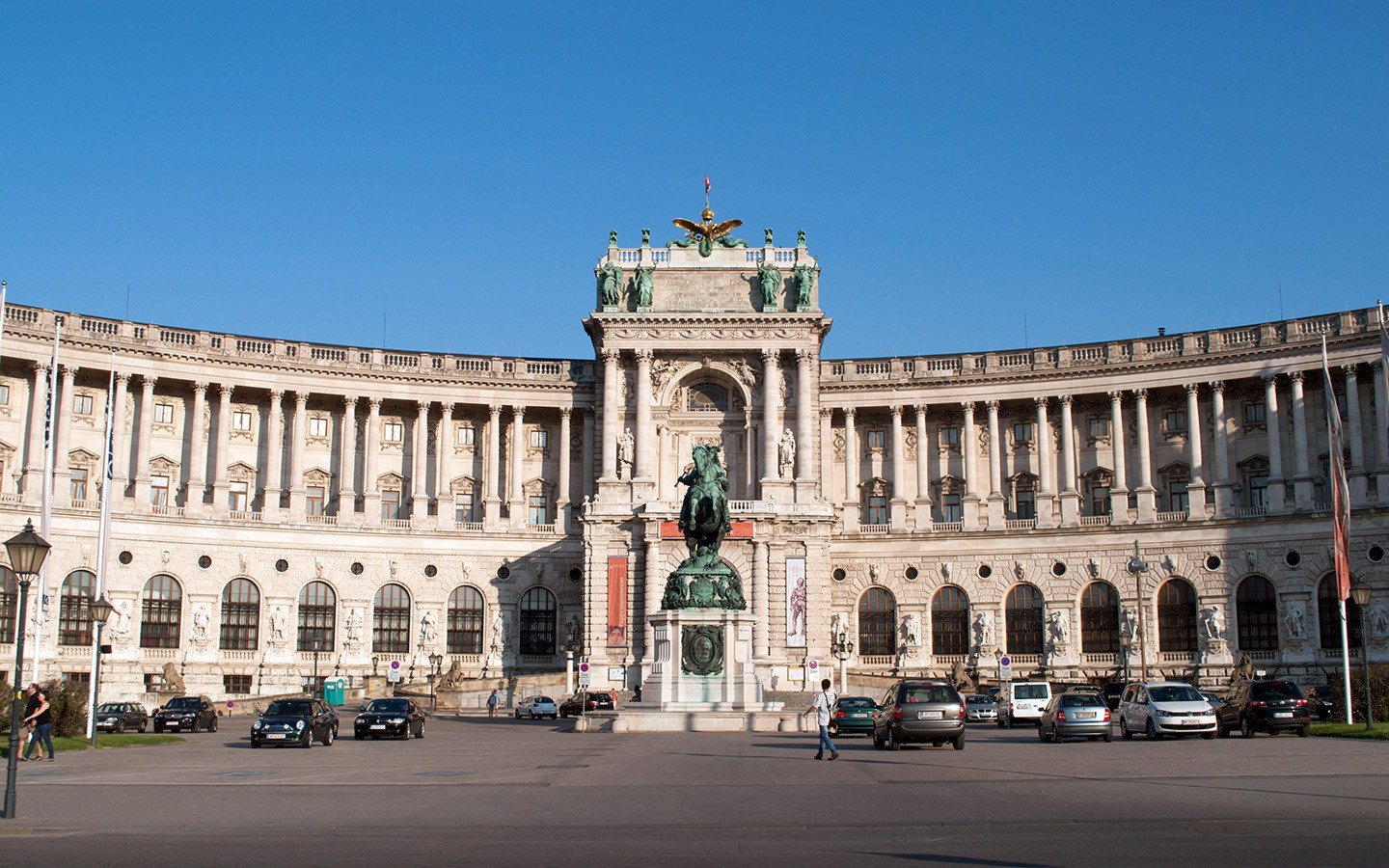 Hofburg Palace buildings in Vienna