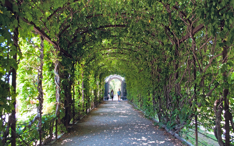 The Schonbrunn Palace gardens in Vienna, Austria
