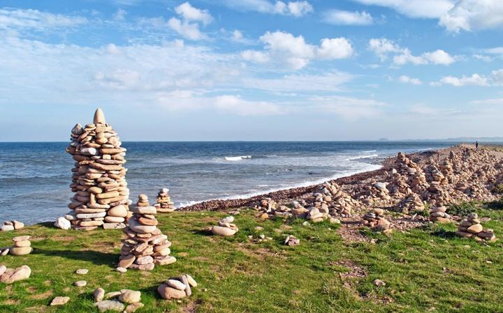 Lindisfarne Island in Northumberland