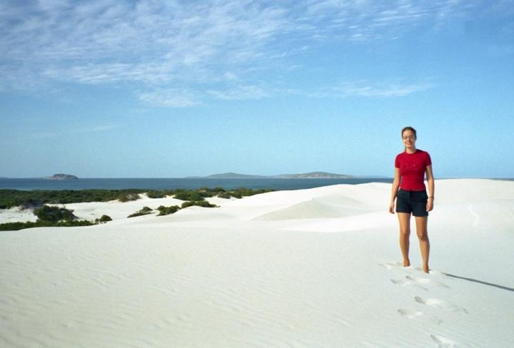 Sand dunes in Esperance, Western Australia