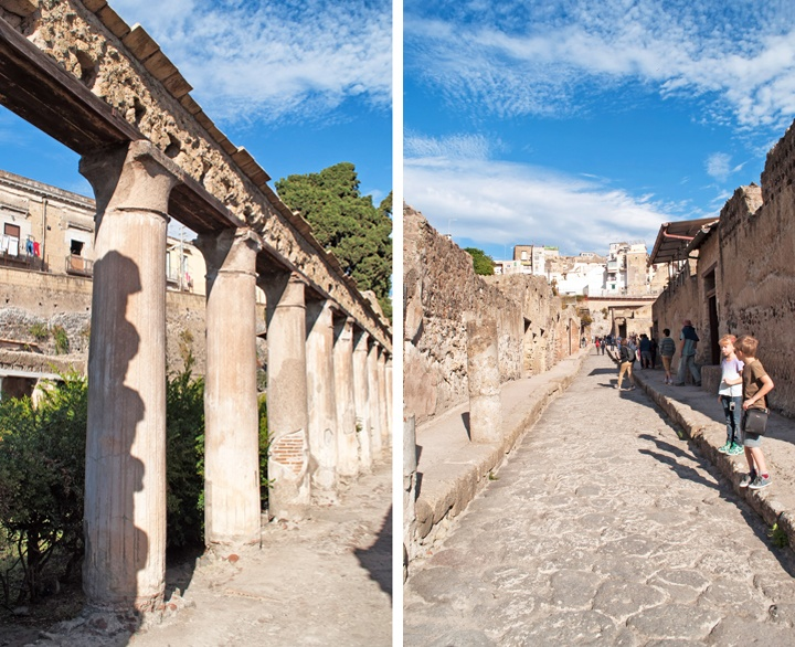 Streets of Herculaneum, Italy